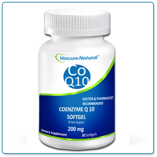 Vascure Natural CoQ10 200mg 30 softgels