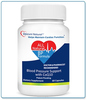 Vascure Natural Blood Pressure Formula Supplements 60 capsules