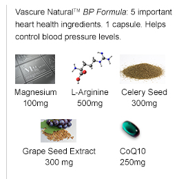 Vascure Natural Blood Pressure Formula Dietary Supplements 60 Capsules