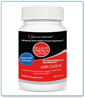 Vascure Natural Cellular Energy Support Supplements 120 capsules (formerly Heart Health)